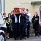 Funeral of Sinead Higgins who died in a suspected murder suicide with her son Oisin in London UK in December