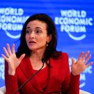 Sheryl Sandberg, Facebook chief operating officer, speaks at the World Economic Forum in Davos. Photo: REUTERS/Ruben Sprich