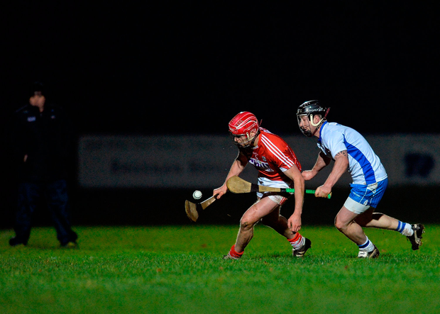 Lorcan McLaughlin of Cork in action against Eoin Madigan of Waterford. Photo: Eóin Noonan/Sportsfile
