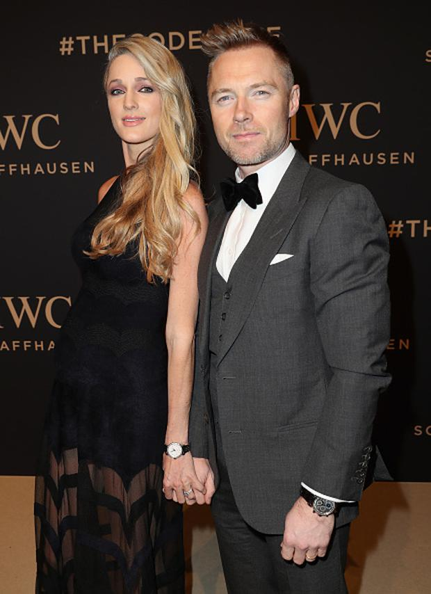 Storm Keating and Ronan Keating attend the IWC Schaffhausen