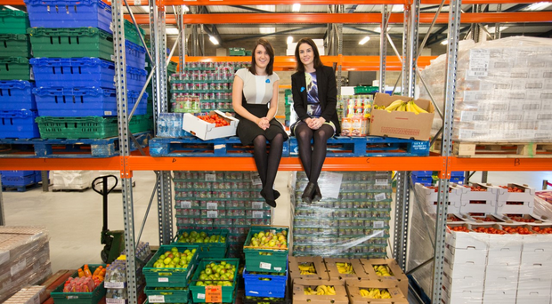 FoodCloud co-founder and CEO Iseult Ward, and co-founder Aoibheann O'Brien. Irish tech start up Photograph: Naoise Culhane