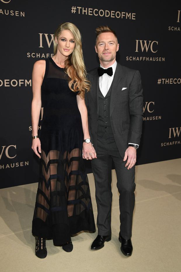 Ronan Keating and Storm Keating arrive at IWC Schaffhausen at SIHH 2017