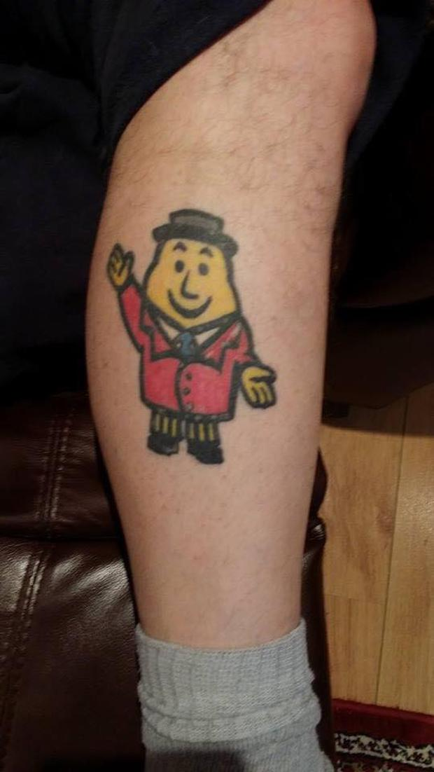 The anonymous crisp fan shared an image of the tattoo with Tayto's official Facebook page.