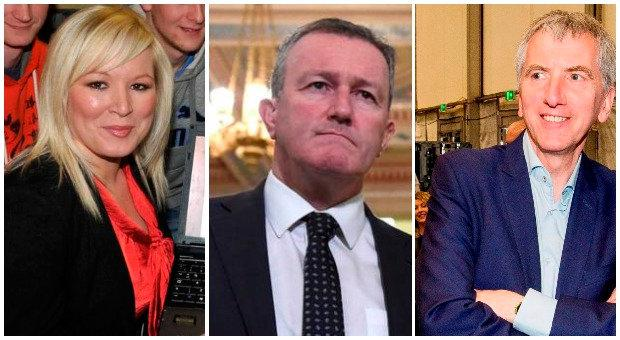 The contenders Michelle O'Neill, Conor Murphy and Mairtin O Muilleoir