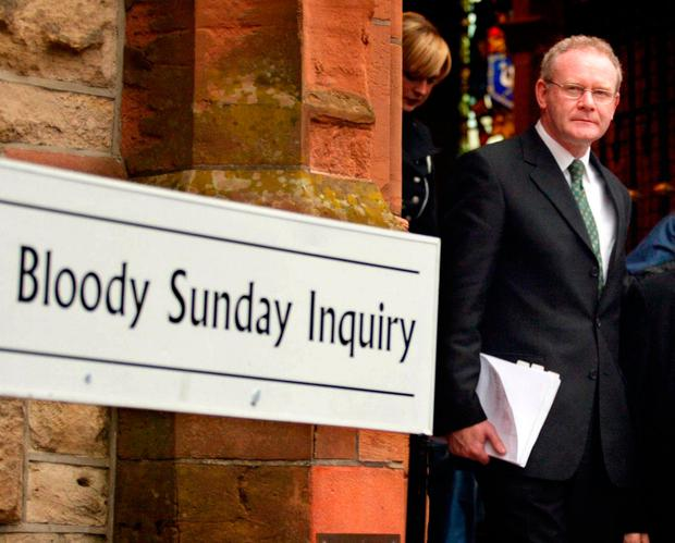 Martin McGuinness 'not pursued' over 1972 massacre to keep peace process alive
