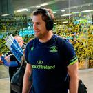 Leinster's Jamie Heaslip walks through Toulouse airport last night. Photo: Stephen McCarthy/Sportsfile