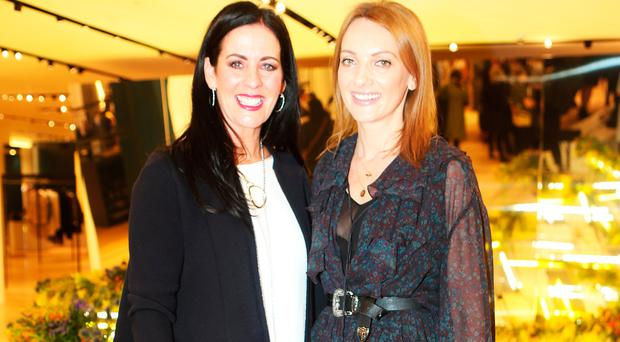 Shelly Corkery and Ingrid Hoey at the launch of the new SS17 International Designer Collections at Brown Thomas. Picture: Leon Farrell / Photocall Ireland
