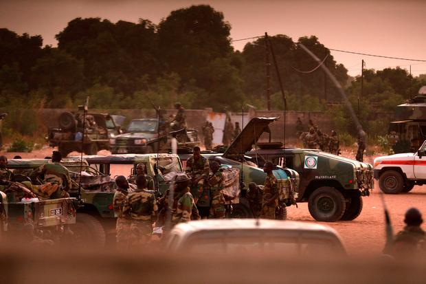 ECOWAS soldiers are seen in a camp at the border of Gambia in Karang, Senegal , January 20, 2017. REUTERS/Thierry Gouegnon