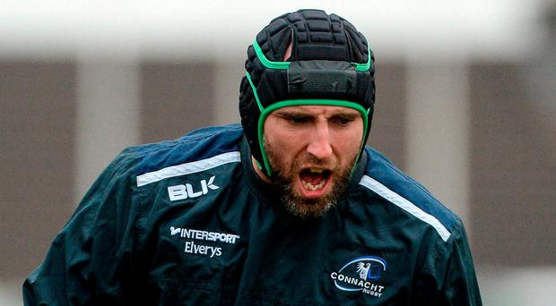 John Muldoon goes through his paces at training this week. Photo: Piaras Ó Mídheach/Sportsfile
