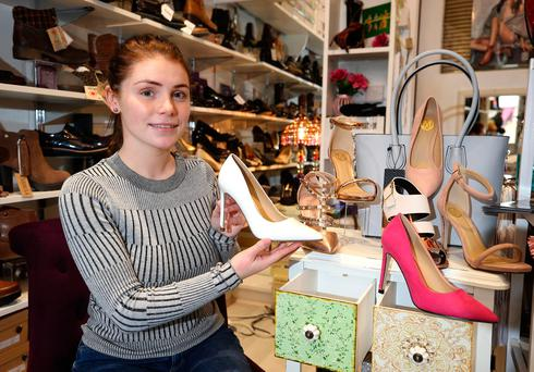 Wondering what Brexit will bring to the border area: shoe shop owner Sarah Mulholland