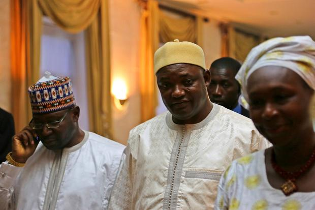Gambia's President Adama Barrow is seen in Dakar, Senegal January 20, 2017 after a senior aide confirmed that Gambia's longtime leader Yahya Jammeh has agreed to leave power. REUTERS/Sophia Shadid