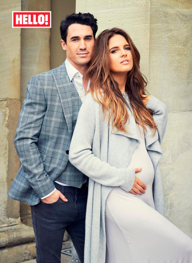 Made In Chelsea star Alexandra 'Binky' Felstead with Josh 'JP' Patterson as they appear in this week's edition of Hello! Picture: Hello!/PA Wire