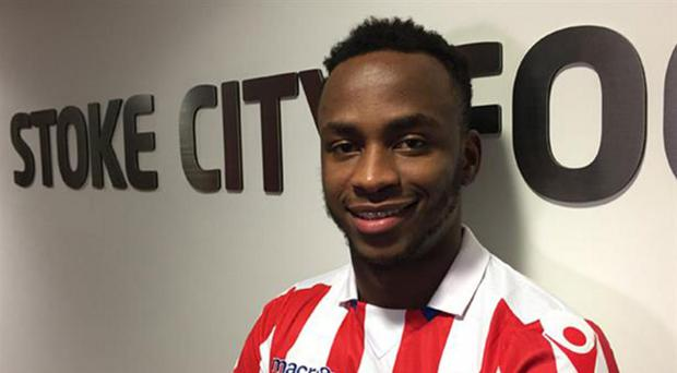 Saido Berahino is unveiled as a Stoke City player after leaving West Brom. Stoke City FC