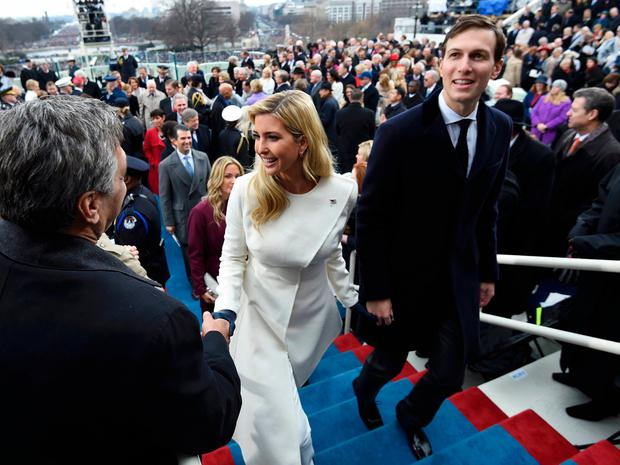Ivanka Trump and husband Jared Kushner leave after the Presidential Inauguration at the US Capitol in Washington, D.C., U.S., January 20, 2017. REUTERS/Saul Loeb/Pool