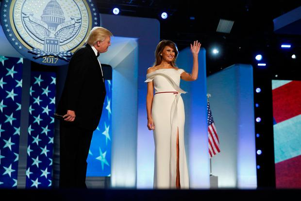 U.S. President Donald Trump introduces first lady Melania Trump at the Freedom Ball in honor of his inauguration in Washington, U.S. January 20, 2017. REUTERS/Jonathan Ernst