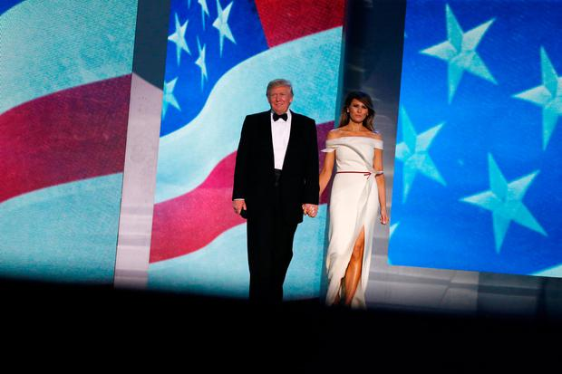 U.S. President Donald Trump and first lady Melania Trump attend the Freedom Ball in honor of his inauguration in Washington, U.S. January 20, 2017. REUTERS/Jonathan Ernst