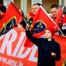 Munster supporter Aaron O'Kelly, aged 8, from Abbeyfeale, lines up outside the stadium to greet both teams as they arrive ahead of the European Rugby Champions Cup Pool 1 Round 6 match between Munster and Racing 92 at Thomond Park in Limerick. Photo by Diarmuid Greene/Sportsfile
