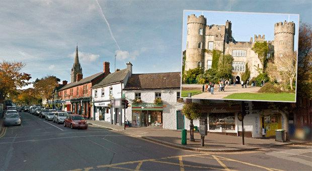 The robbery took place in The Diamond, Malahide and the raiders fled towards Malahide Castle. Picture: Google Maps