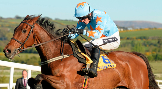 Irish challenger Un De Sceaux was set to bid for back-to-back victories in the Clarence House Chase. Picture: Cody Glenn/Sportsfile