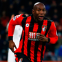 Benik Afobe celebrates scoring Bournemouth's second goal. Photo: Peter Cziborra/Reuters