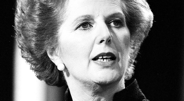 Former British Prime Minister Margaret Thatcher Photo: PA Wire