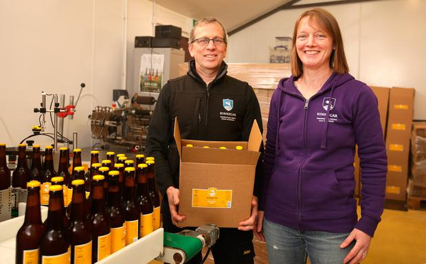 Loyal customers: Rick LeVert and Libby Carton of Kinnegar Brewery in Rathmullan. Photo: Gerry Mooney