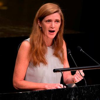 The outgoing US ambassador to the United Nations, Samantha Power Photo: Don Emmert / AFP / Getty Images