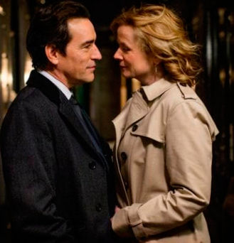 Passion for truth: Ben Chaplin and Emily Watson get up close and personal in 'Apple Tree Yard' Photo: Nick Briggs/BBC