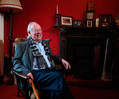 Home is where the heart is: Poet Brendan Kennelly relaxing in his native Kerry Photo: Domnick Walsh