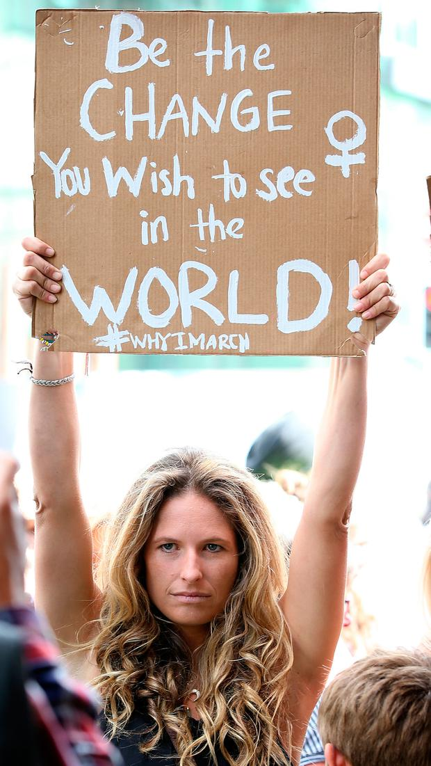 A protestor in Auckland Photo: Fiona Goodall/Getty Images