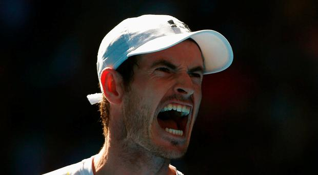 Britain's Andy Murray reacts during his Men's singles fourth round match against Germany's Mischa Zverev. REUTERS/Thomas Peter