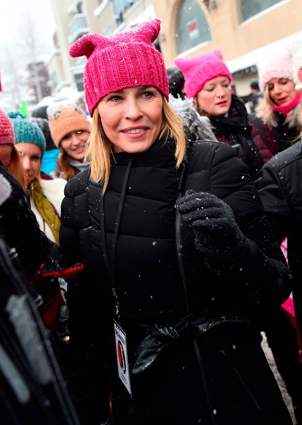 Chelsea Handler participate in the Women's March on Main Street Park City on January 21, 2017 in Park City, Utah. (Photo by Michael Loccisano/Getty Images)