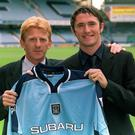 Gordon Strachan with Robbie Keane in 1999
