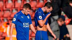 Leicester City's Danny Drinkwater and Marc Albrighton