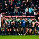 Connacht players after conceding the first try of Toulouse during the European Rugby Champions Cup Pool 2 Round 6 match between Toulouse and Connacht at Stade Ernest Wallon in Toulouse, France. Photo by Stephen McCarthy/Sportsfile