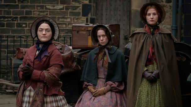 To Walk Invisible, the BBC drama charting the lives of the Bronte sisters played by Charlie Murphy (Anne), Chloe Pirrie (Emily) and Finn Atkins (Charlotte)