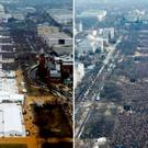 The scene of Donald Trump's inauguration as US President on January 20 2017 (L) and Barack Obama's first swearing in ceremony in 2009 Composite Reuters (L) Getty Images (R)