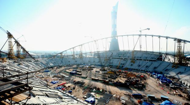 The Khalifa Stadium in Doha where a British worker fell to his death last week – perhaps the only reason last week's tragedy even registered as international news was the nationality of the victim. Photo: Warren Little/Getty Images