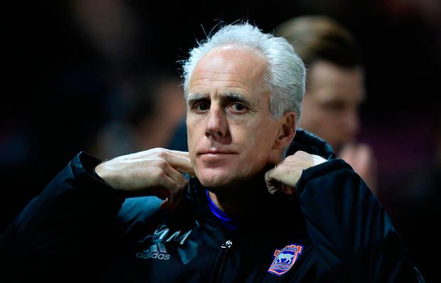 Another defeat on Saturday has heaped the pressure on Ipswich boss Mick McCarthy. Photo credit: Mike Egerton/PA Wire.