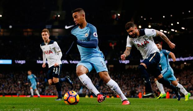 Manchester City's Gabriel Jesus in action. Photo: Reuters / Andrew Yates