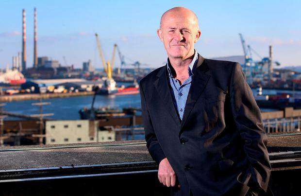 Chief executive Eamonn O'Reilly at the Dublin Port Company's headquarters in Dublin Port. Photo: Frank McGrath
