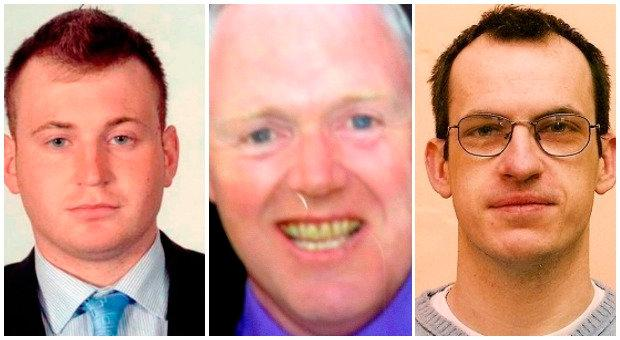 From left, Ronan Kerry, David Black and Kieron Doherty