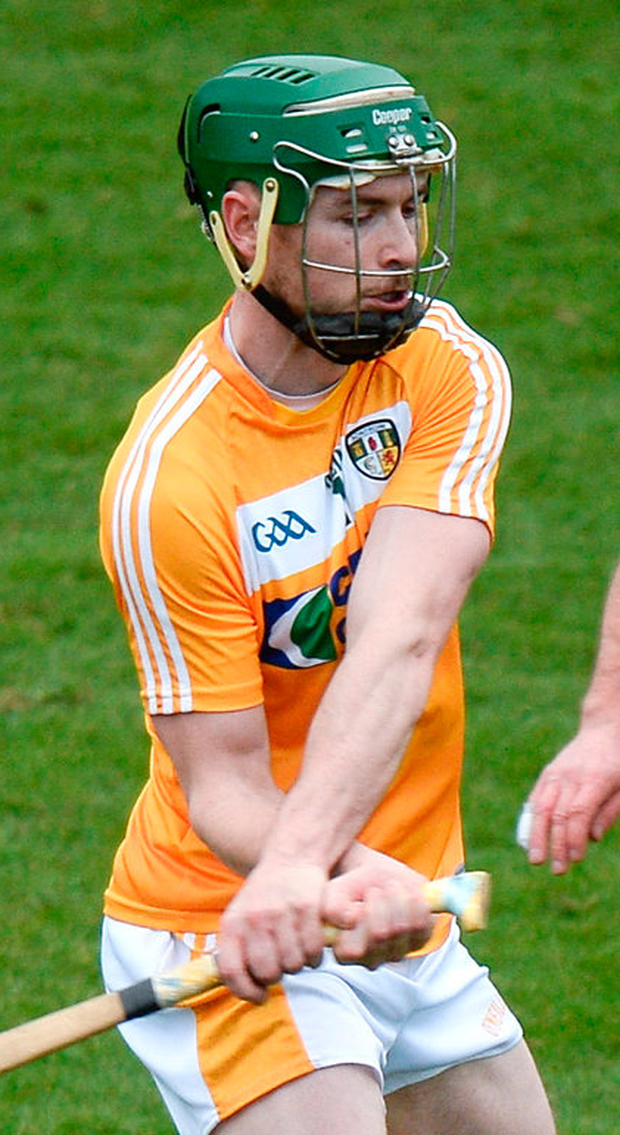 Conor McCann of Antrim was on target against DCU. Photo: Cody Glenn/Sportsfile