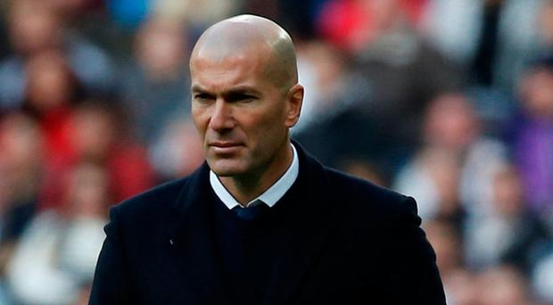 Zidane was concerned with the lack of support for his players. Photo: Reuters/Javier Barbancho