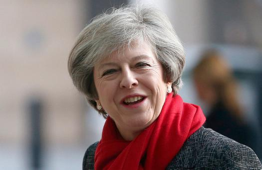 British Prime Minister Theresa May. Photo: Reuters/Neil Hall