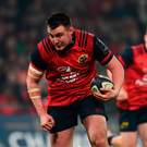 Niall Scannell, here in action for Munster against Racing 92 on Saturday, is tipped to be called into the Ireland squad today along with his younger brother Rory. Photo by Diarmuid Greene/Sportsfile