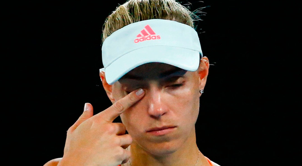 Germany's Angelique Kerber was comfortably second-best against the unseeded American Coco Vandeweghe. Photo:Edgar Su/Reuters