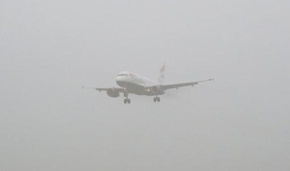 Freezing fog has resulted in numerous cancellations in London and southern England Photo: Twitter Thames Valley News