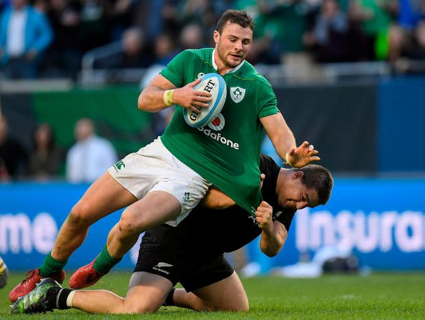 Rugby star Robbie Henshaw in action for Ireland. Photo: Brendan Moran/Sportsfile