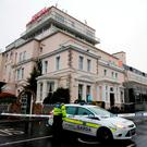 A garda at the Regency Hotel after last year's killing